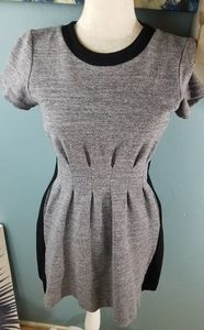 Madewell Gray Pleatee Dress Size 6
